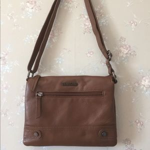 Small Leather Brown Crossbody Purse from Bentley